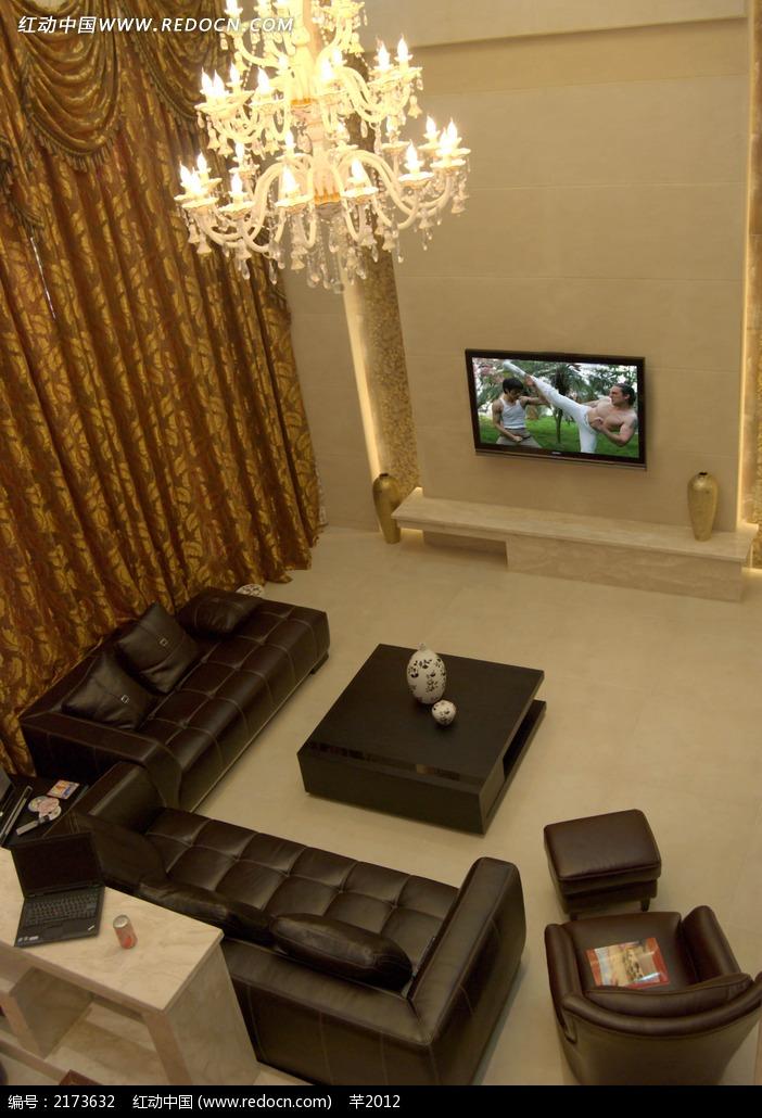 客厅俯视高清效果图
