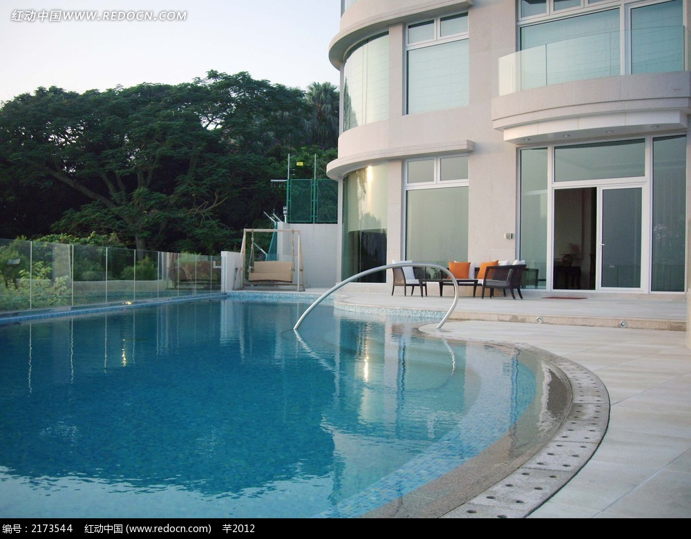 别墅游泳池效果图图片