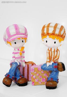 两个玩偶装饰品素材