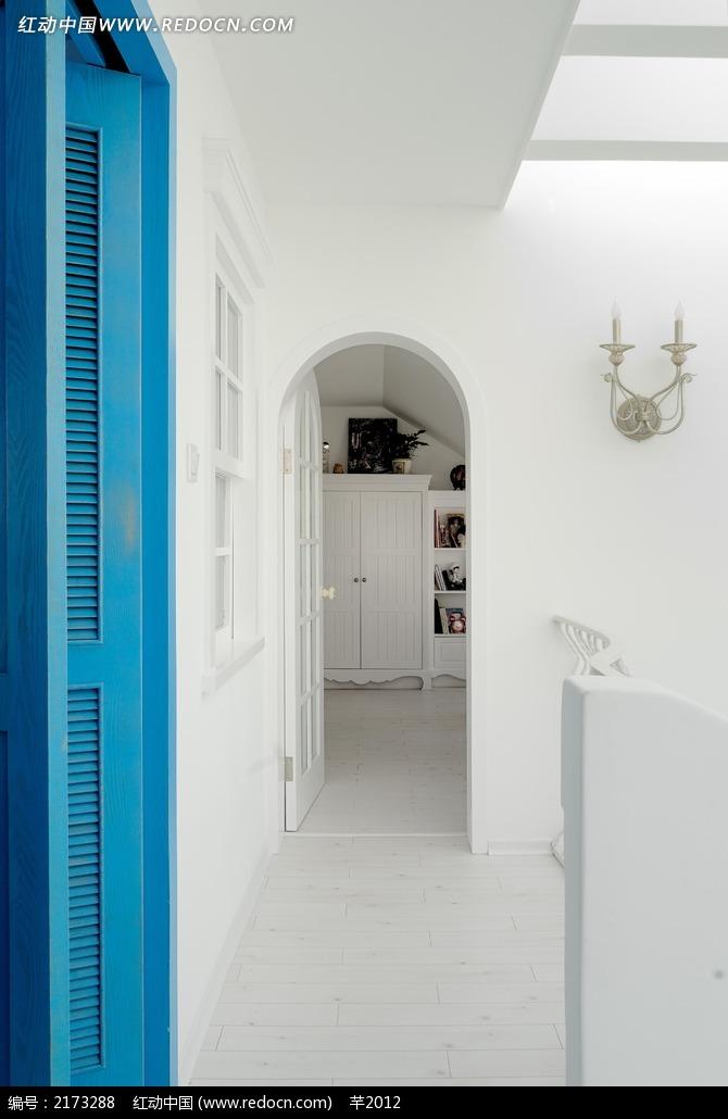 简约白色蓝色相交欧式装饰效果图图片_室内设江汉大学景观设计图片