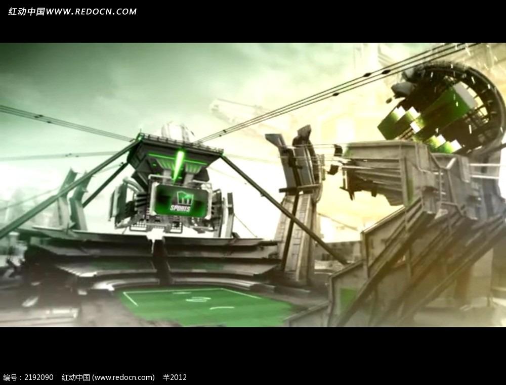 3d机械场景视频