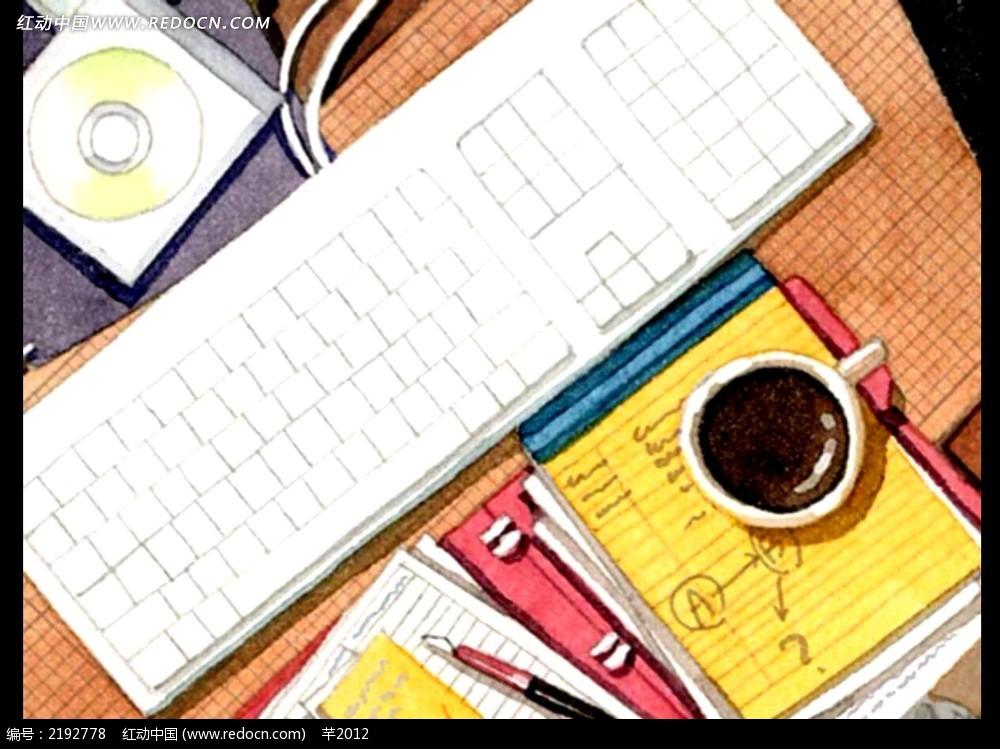 卡通手绘书桌视频