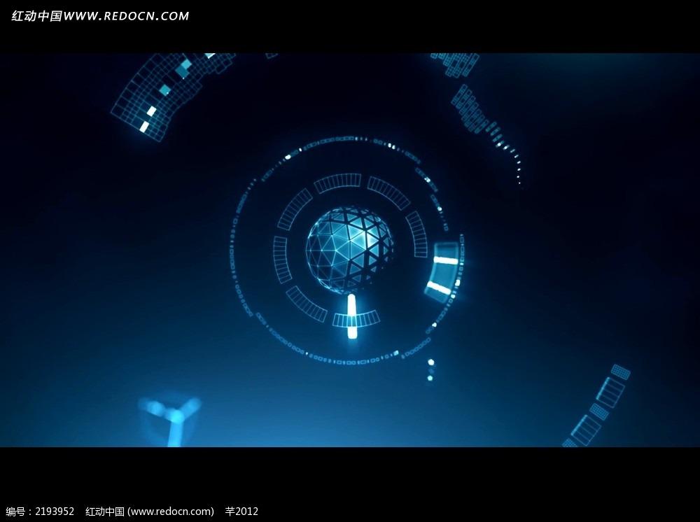 影视背景_免费素材 视频素材 影视模板 国外模板 光效星球科技背景视频  请您