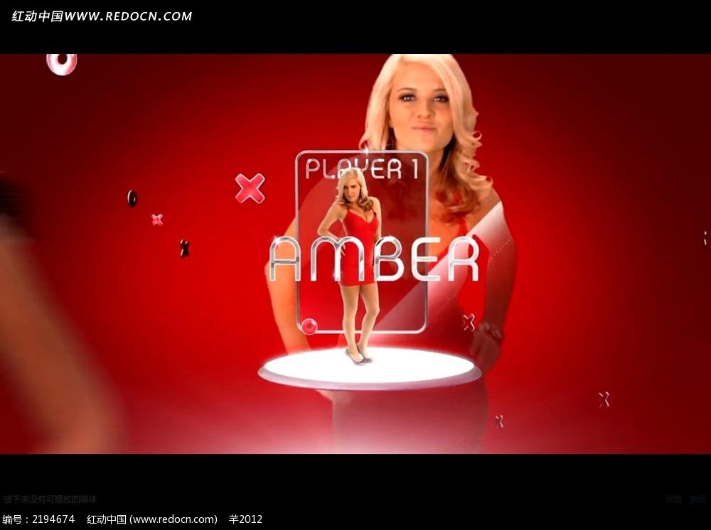 国外美女广告特效视频