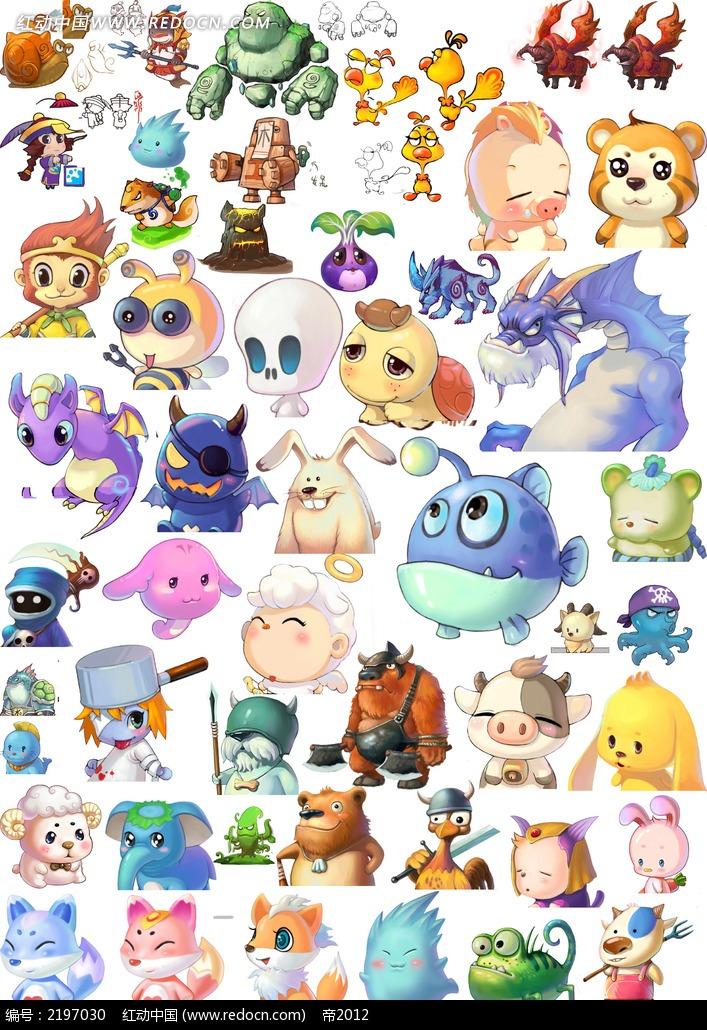 卡通动漫  手绘  小动物  动画片素材 漫画人物 人物绘画 插画图片