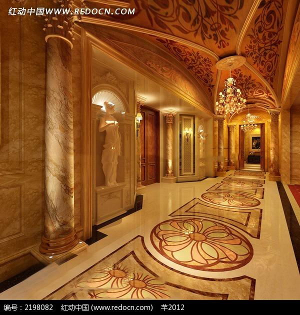 欧式穹顶宫廷室内设计图图片