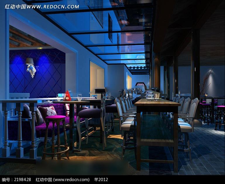欧式古典餐厅咖啡吧装修效果图_室内设计_红动手机版