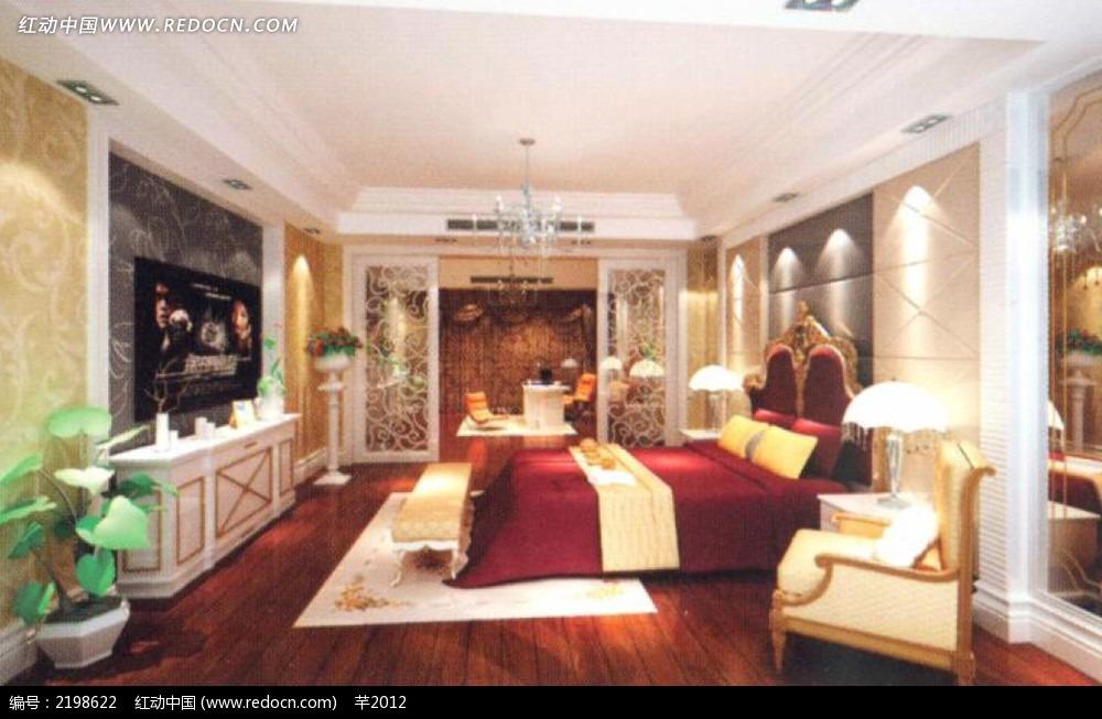 欧式卧室装修造型效果图图片