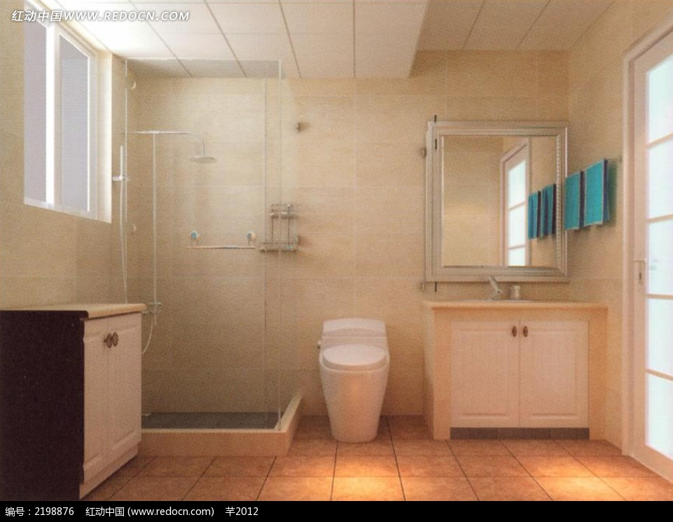 当前位置:免费素材>3D素材>3D模型>室内设计>卫生间效果图模板