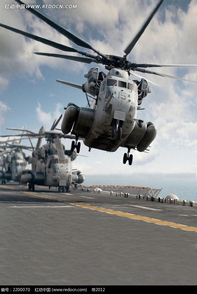 起飞的直升机婚纱背景