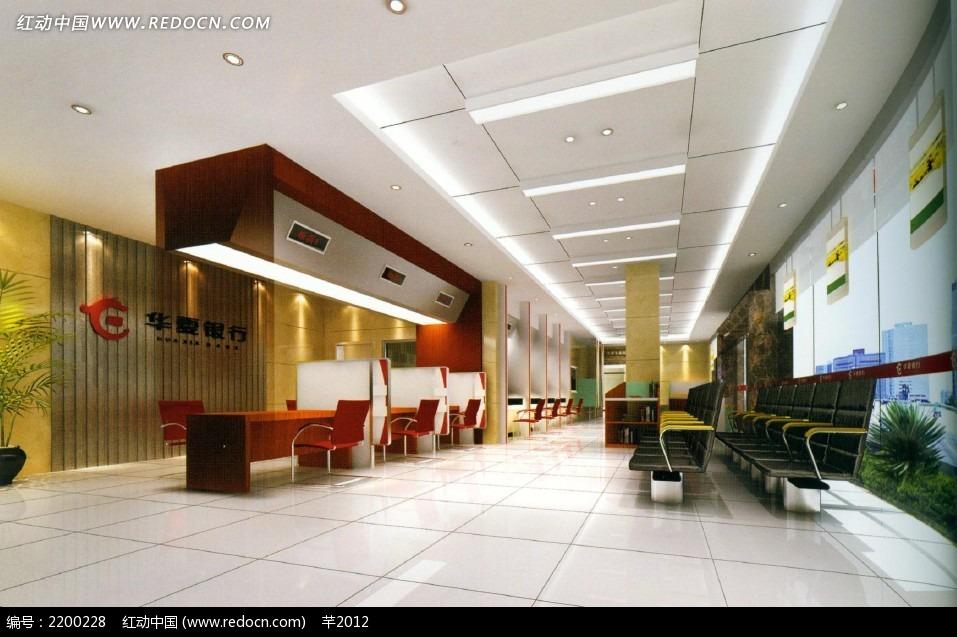 免费素材 3d素材 3d模型 室内设计 公司前厅业务接待大厅效果图  请您