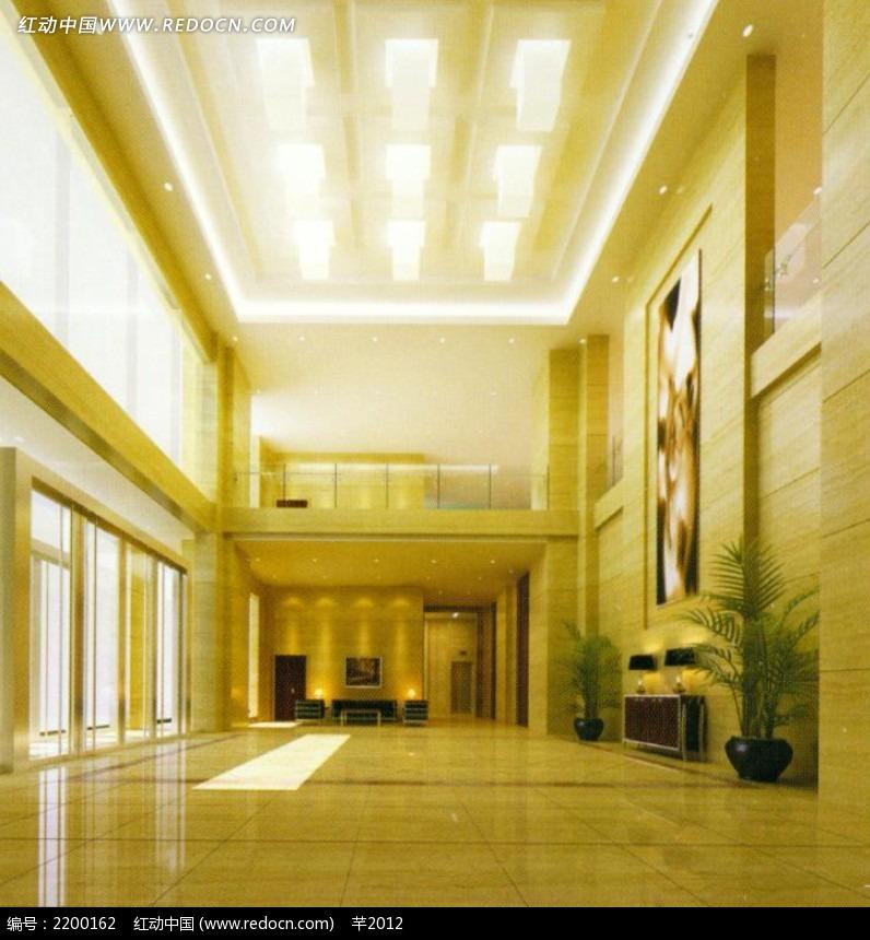 酒店大厅灯效图