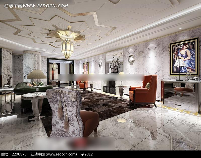 客厅装修效果图 奢华室内装修效果图