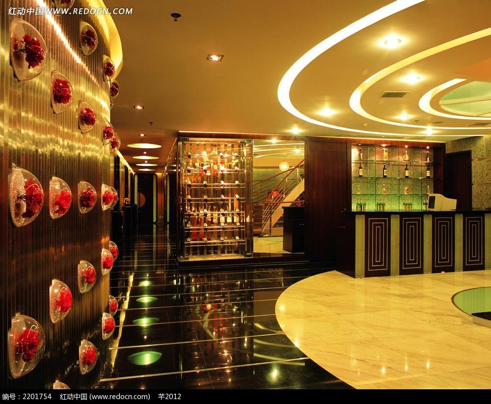 免费素材 图片素材 环境居住 室内设计 酒楼接待大厅高清效果图  请您