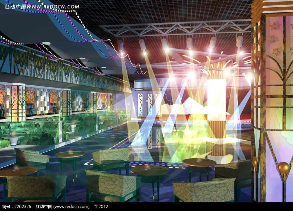 酒吧舞台效果图3ds免费下载