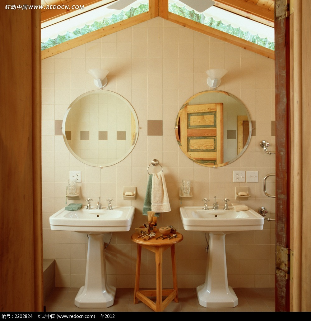 免费素材 图片素材 环境居住 室内设计 清新洗手池