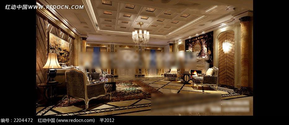 豪华欧式客厅装修效果图