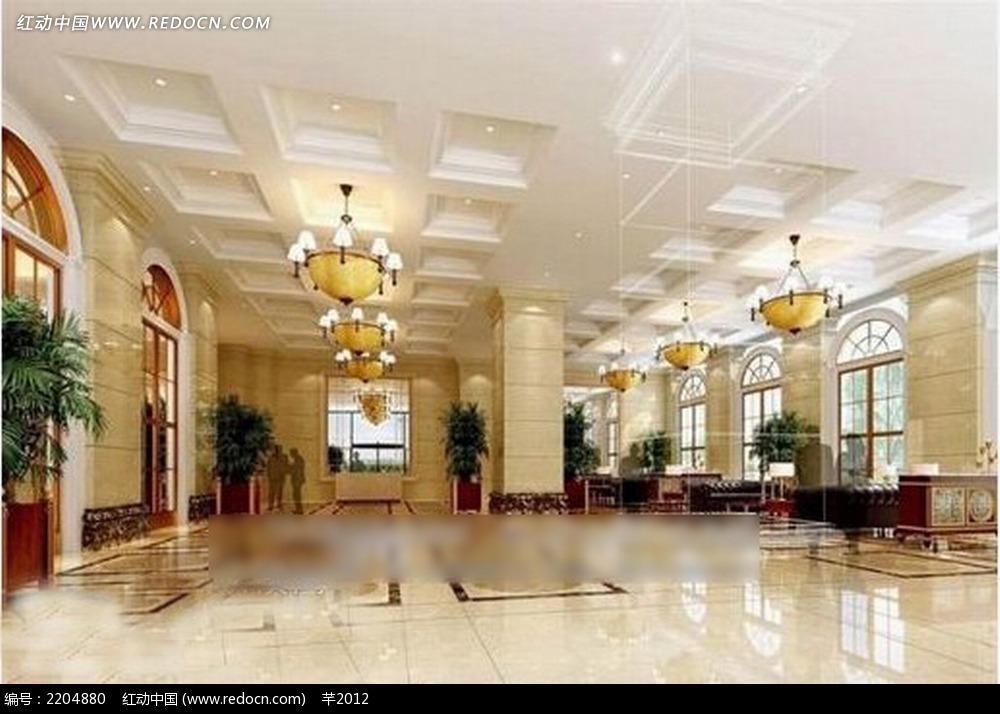 酒店大厅室内效果图