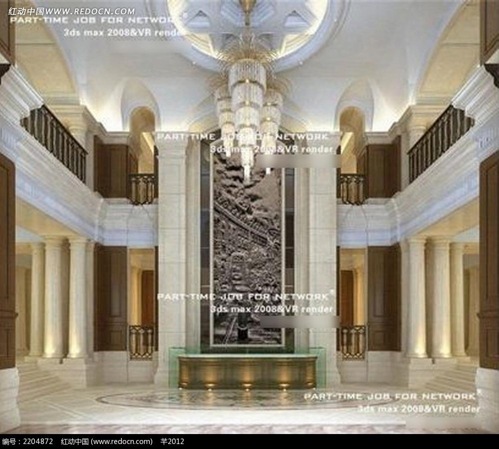 欧式酒店大堂效果图图片
