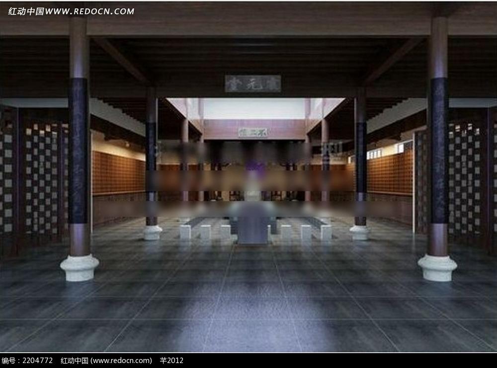 中式宫殿效果图图片