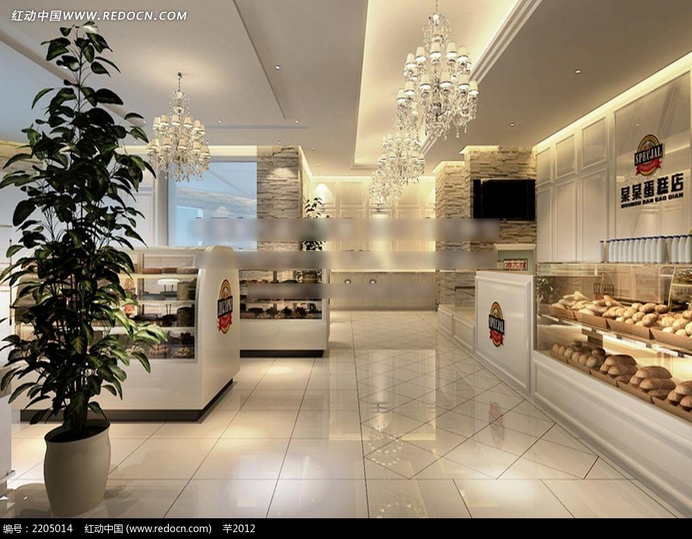 蛋糕店装修效果图3dmax免费下载_室内设计素材_编号