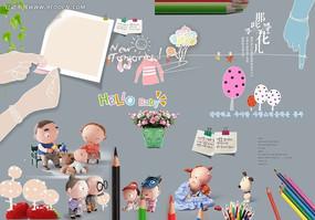 儿童相册字体及装饰素材