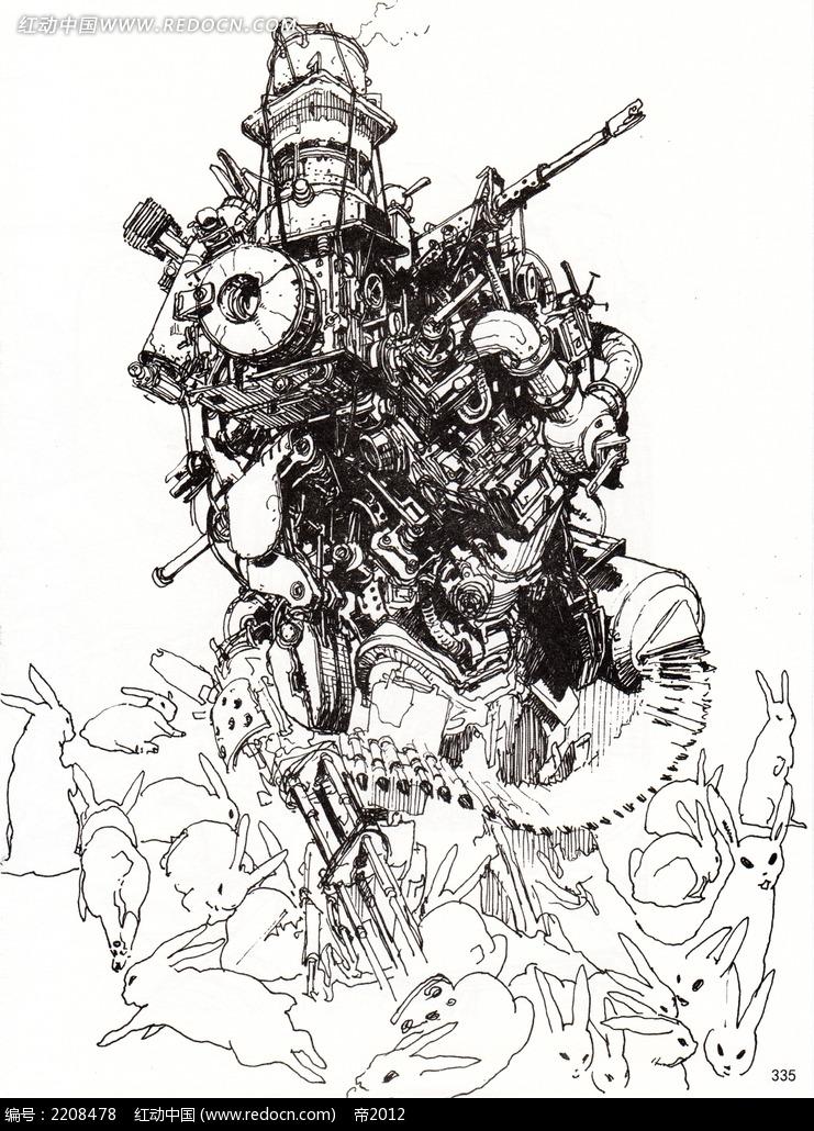 图片素材 漫画插画 人物卡通 战斗中的人物手绘线描  请您分享: 素材