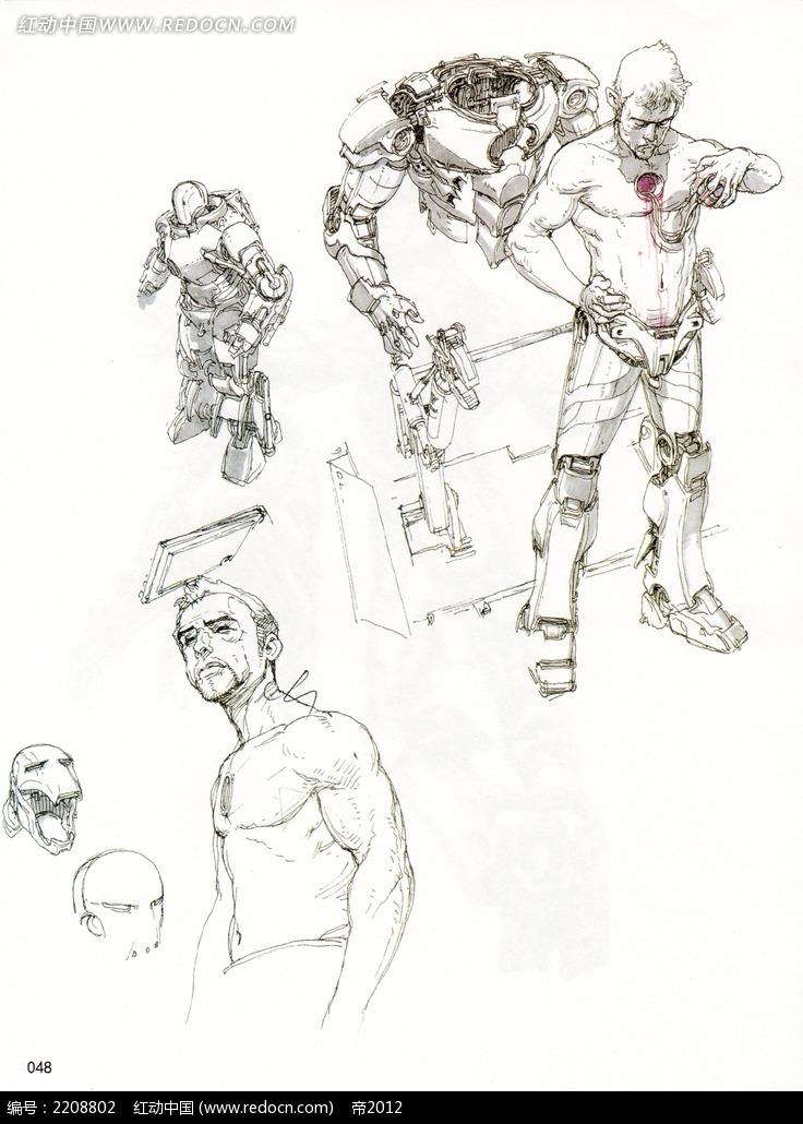 【50种机器人画法-国外手绘教程】-第7页 乐乐简笔画
