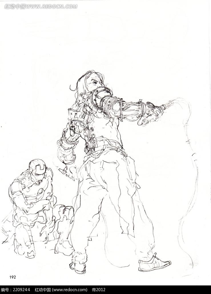 钢铁侠简笔画儿童画 步骤