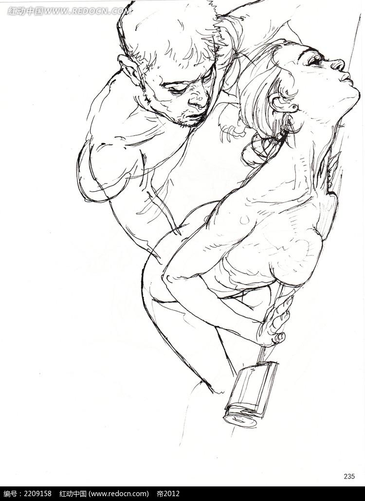 裸体男女插画手稿