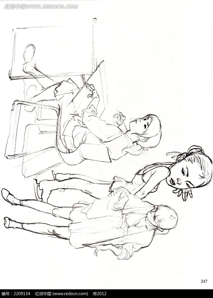 学生画画手绘摄影图片