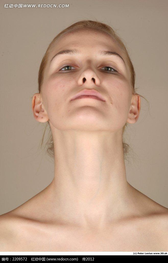 免费素材 图片素材 人物图片 人体器官 女性抬头正面特写jpg