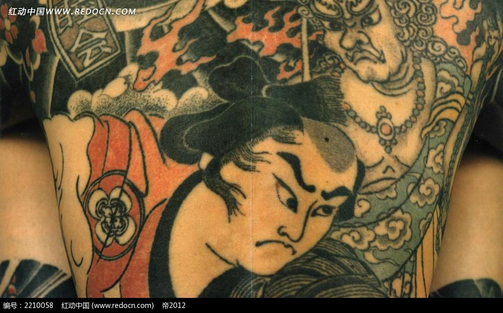 免费素材 图片素材 漫画插画 人物卡通 日本武士纹身图片  请您分享