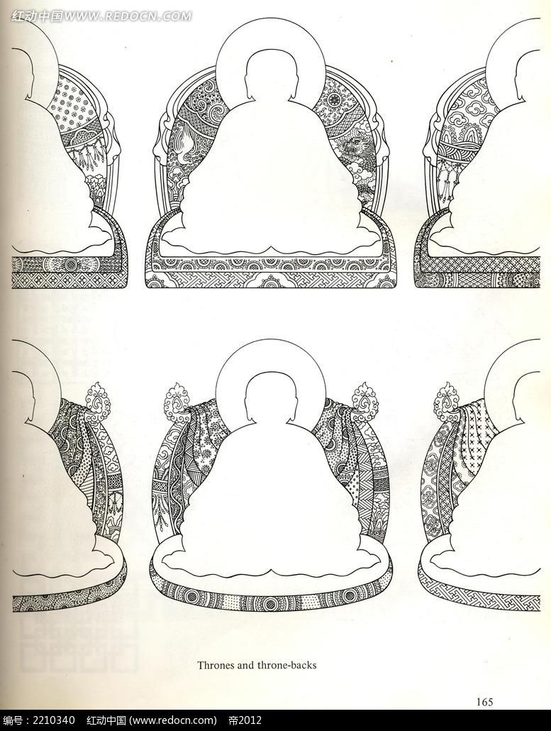 佛像手绘图形图案