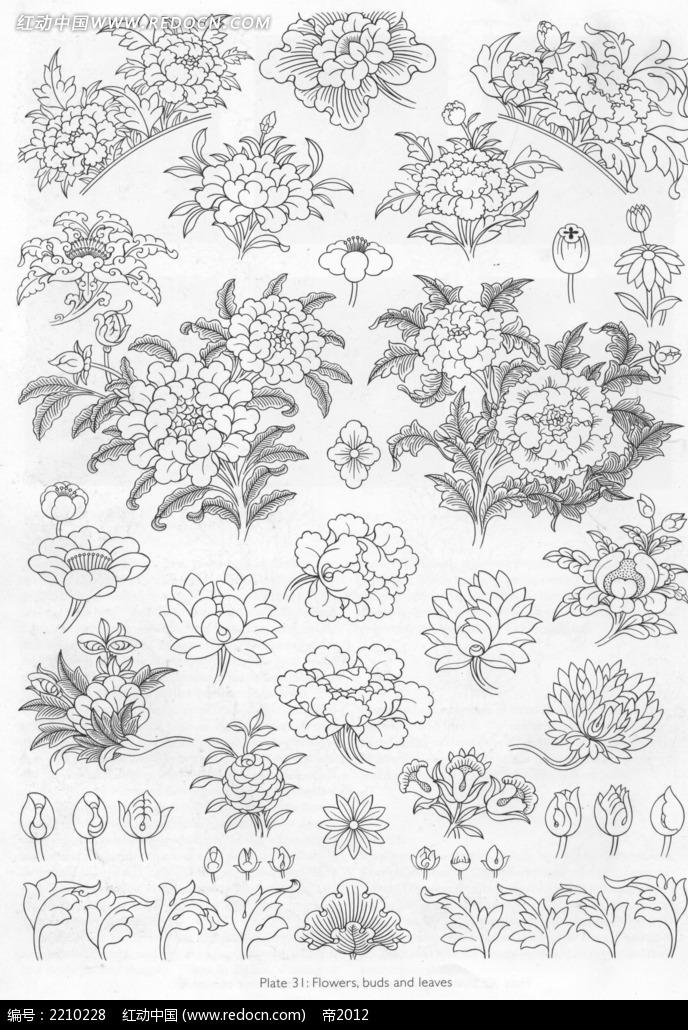 花朵花纹手绘图形图案