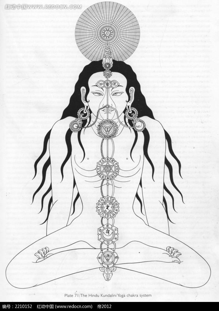 神仙手绘线描图形