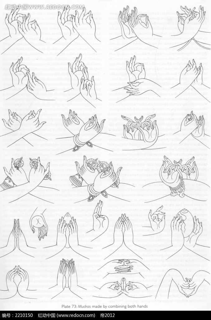 手型手绘线描图形