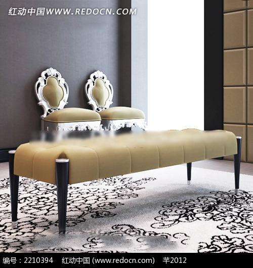欧式地毯座椅效果图  欧式花纹地毯