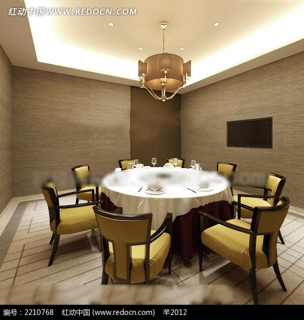 免费素材 3d素材 3d模型 室内设计 简约风格餐厅包间效果图  请您分享