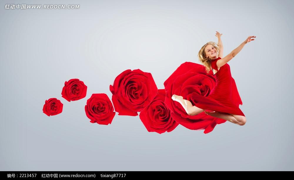 美女 长裙/红色长裙美女