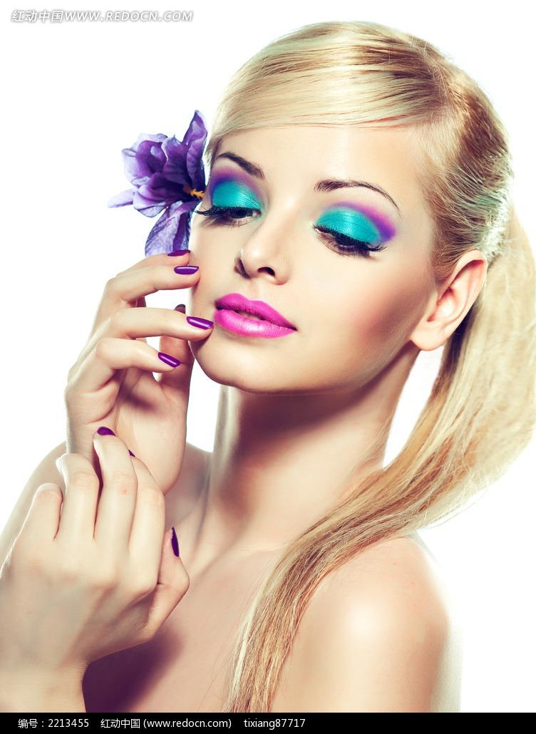 靓丽彩妆美女图片 女性女人图片 竖
