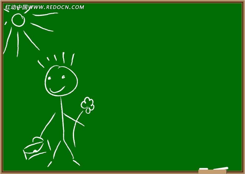 黑板上 儿童涂鸦 卡通人物 卡通人物图片 漫画人物 人物素材 人物图片
