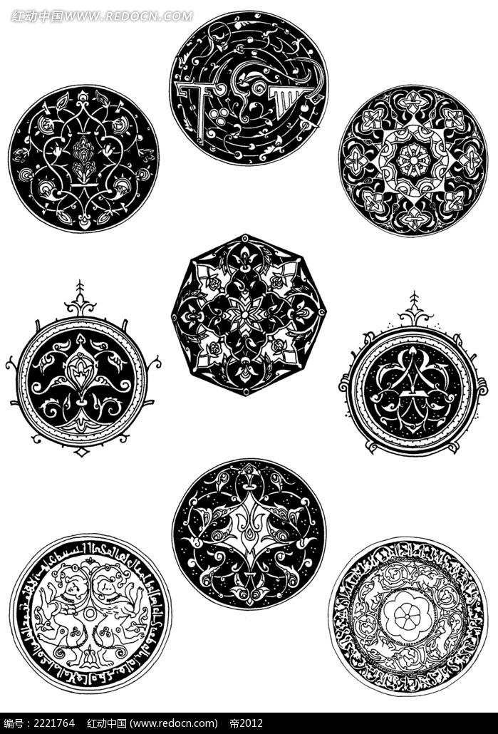 陶瓷盘装饰图形图案