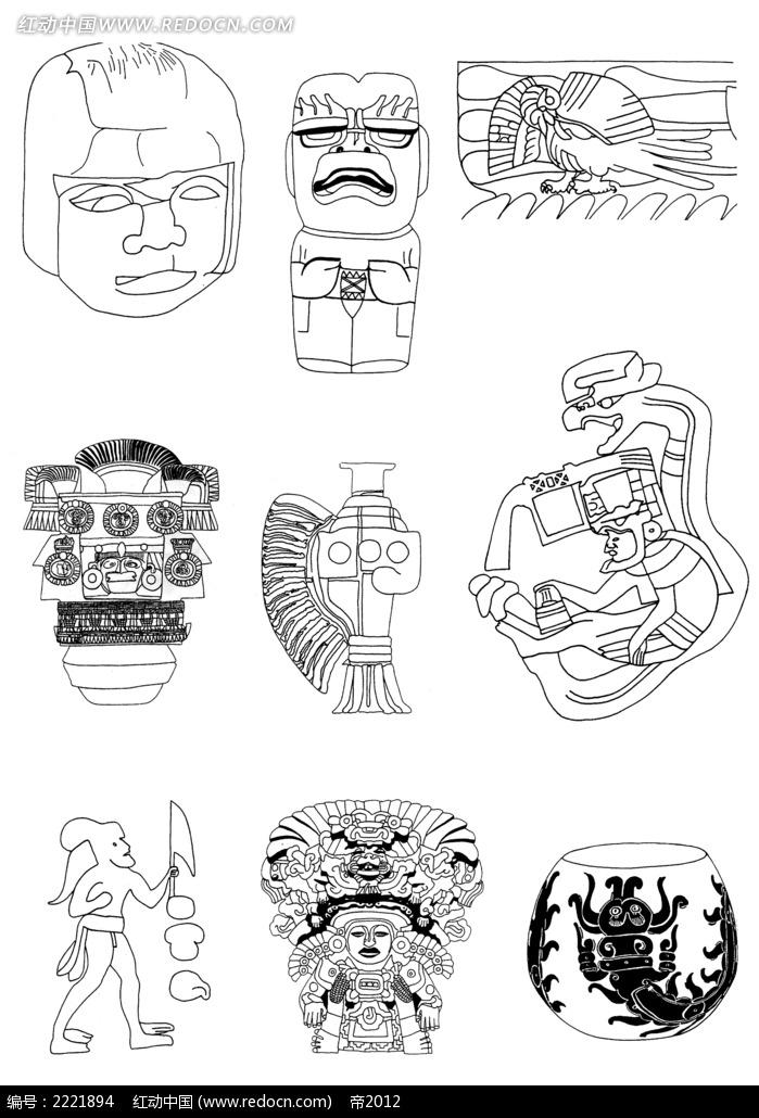 手绘人物图形图案图片_吉祥图文图片