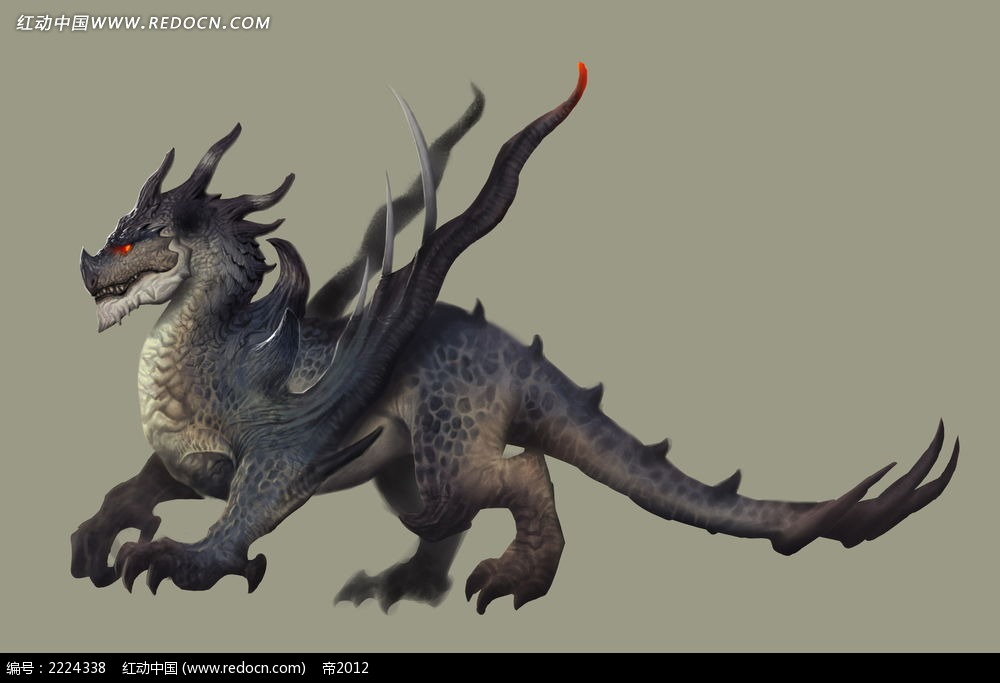 轩辕传奇恐龙手绘插画