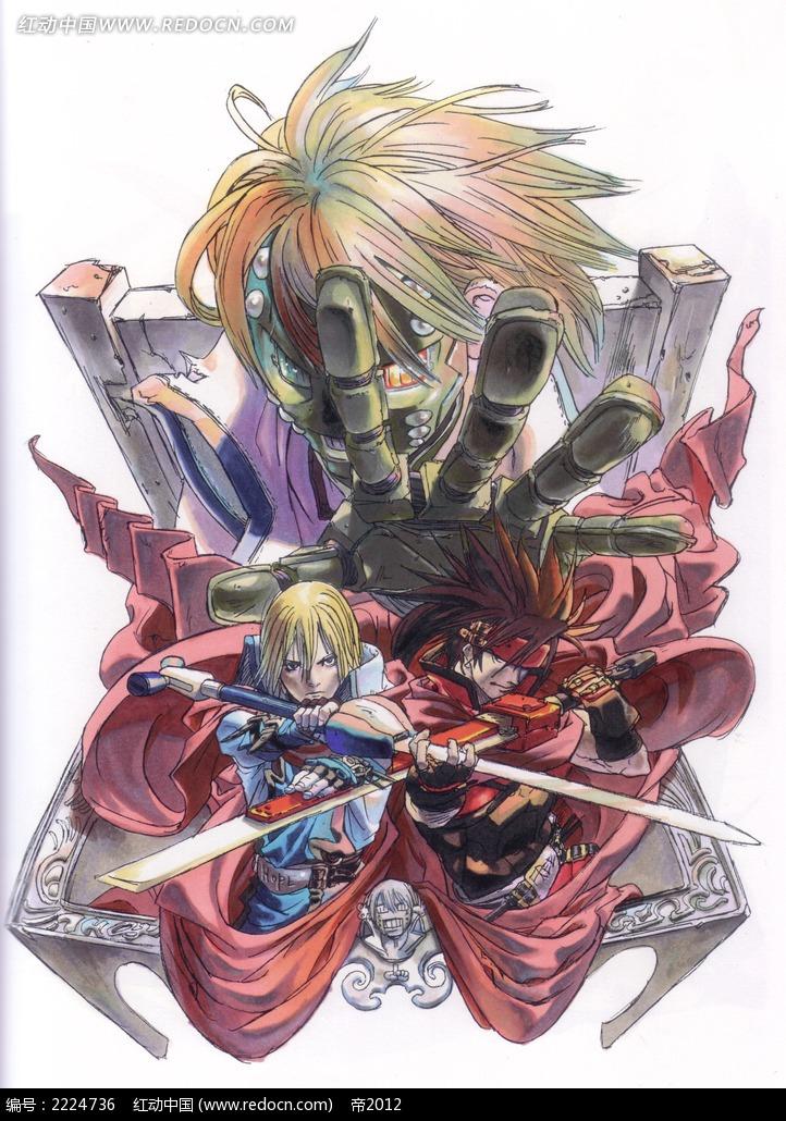 天使与恶魔_人物卡通图片_红动手机版