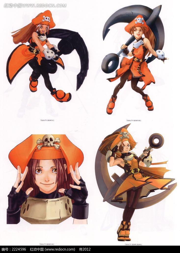 《轩辕传奇》美少女战士彩稿画_人物卡通图片