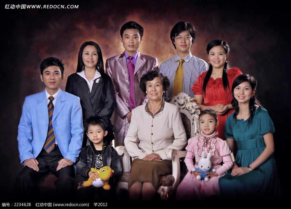 大家族全家福图片