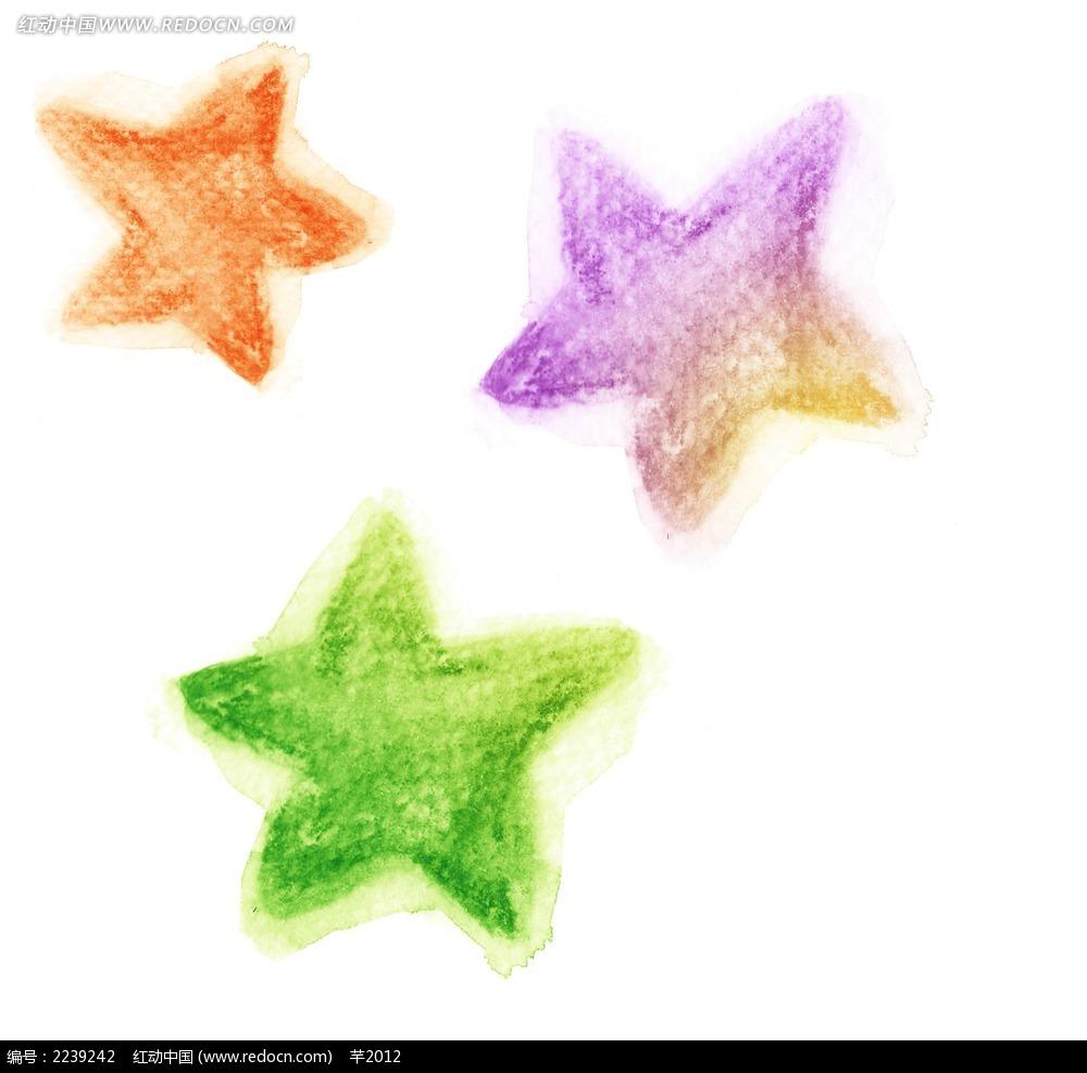 手绘五角星