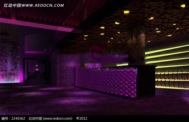 酒吧KTV前台装修设计图图片